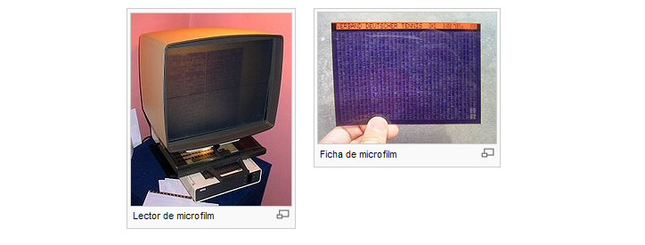 Microfilm  y Lector de microfilm