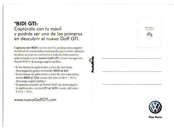 Reverso Postal Golf GTI