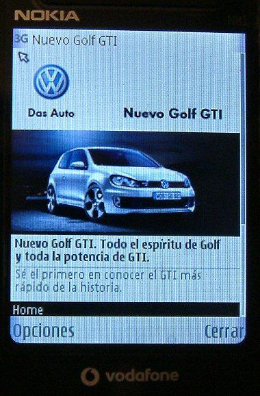 La Web del nuevo Golf GTI en el móvil