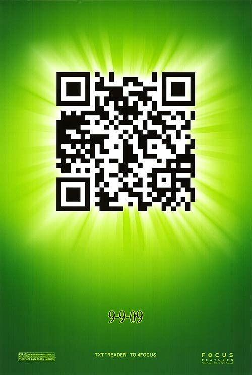 Poster de la película -9- con un QR Code