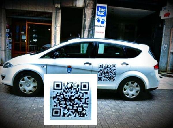 QR en Taxi Oviedo. Campaña en eBay