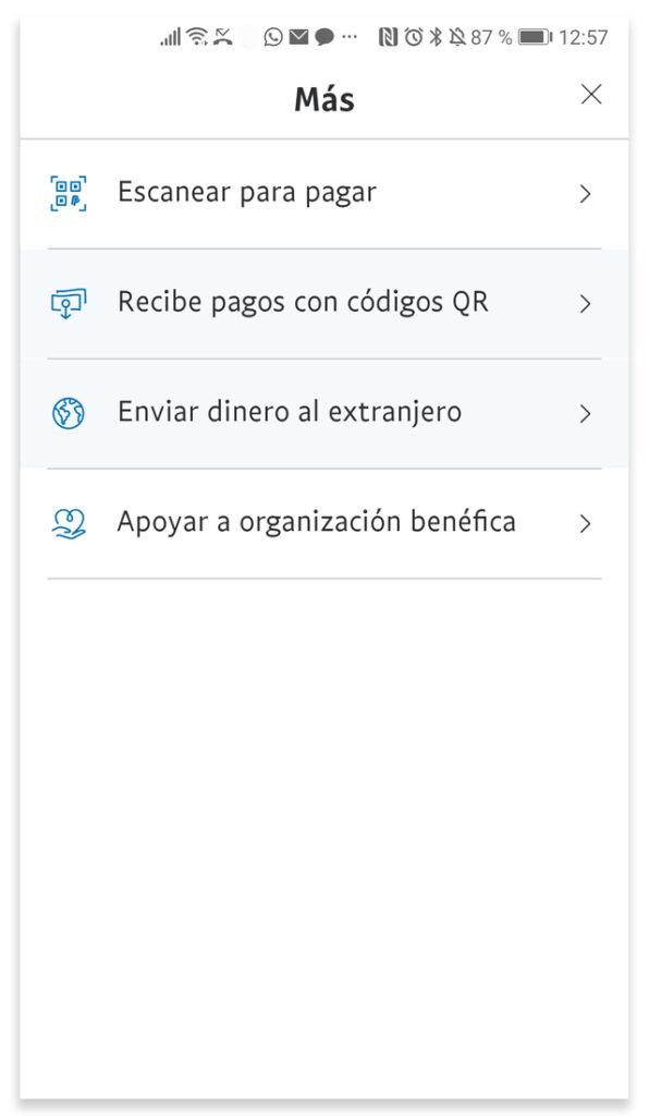 Pantalla del pago con códigos QR de Paypal.