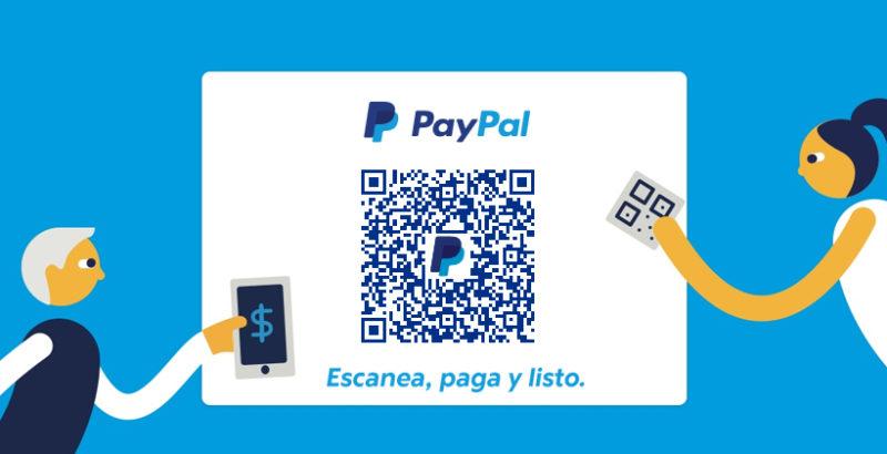 Pagos con códigos QR de Paypal